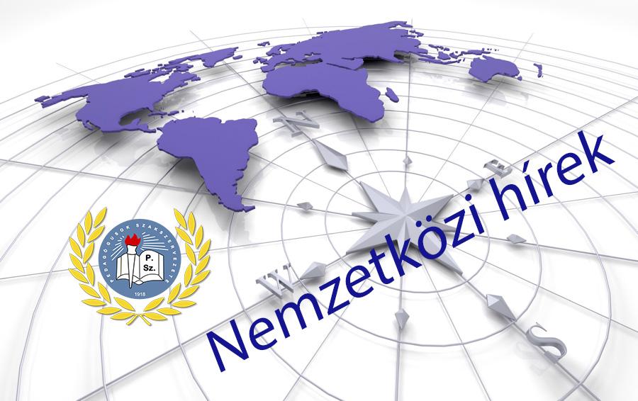 Román pedagógus szakszervezeti küldöttség a PSZ-nél