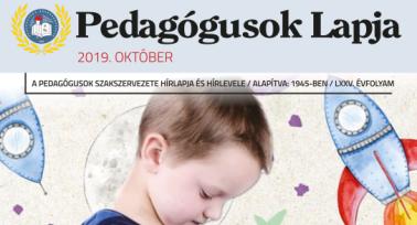 Megjelent a Pedagógusok Lapja októberi száma
